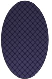 rug #637661 | oval blue-violet check rug