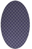 rug #637665 | oval blue-violet check rug