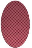 rug #637669 | oval blue-violet check rug