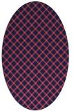 rug #637670 | oval check rug