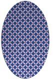 rug #637680 | oval check rug
