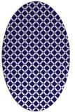 rug #637681 | oval blue-violet check rug