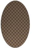 rug #637685 | oval blue-violet check rug