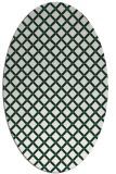 rug #637709 | oval check rug