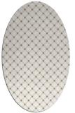rug #637717 | oval white check rug