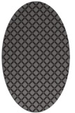 rug #637725 | oval brown rug