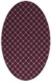 rug #637733 | oval pink geometry rug
