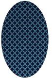 rug #637745 | oval blue rug