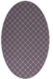rug #637757 | oval purple check rug
