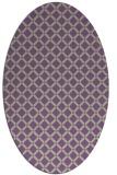rug #637759 | oval check rug