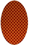 rug #637765 | oval red-orange check rug