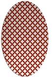 rug #637769 | oval orange check rug