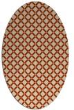 rug #637773 | oval orange popular rug
