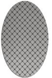 rug #637777 | oval red-orange check rug