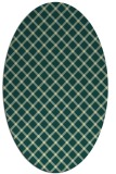 rug #637781 | oval yellow check rug