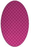 rug #637785   oval pink check rug