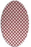 rug #637789   oval pink check rug