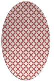 rug #637797 | oval white check rug