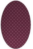 rug #637801 | oval purple check rug
