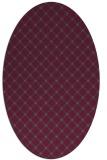 rug #637804   oval check rug