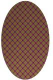 rug #637805 | oval purple check rug