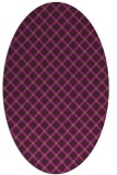 rug #637806   oval check rug