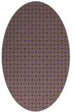 rug #637809 | oval purple check rug