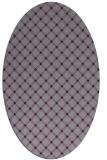 rug #637813 | oval purple check rug