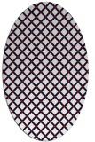 rug #637817 | oval red check rug