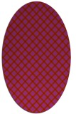 rug #637829 | oval red check rug