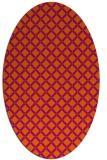 rug #637841 | oval red-orange check rug