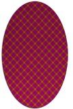 rug #637844   oval check rug