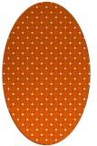rug #637845 | oval red-orange check rug