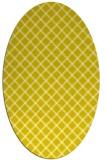 rug #637853 | oval white check rug