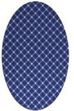 rug #637857 | oval blue check rug