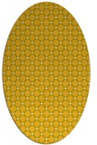 rug #637865 | oval yellow check rug