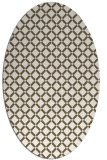 rug #637869 | oval yellow check rug