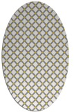 rug #637877 | oval yellow check rug