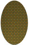 rug #637881 | oval light-orange check rug