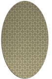 rug #637901 | oval light-green check rug