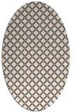 rug #637925 | oval white check rug