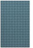 rug #637953 |  blue-green check rug