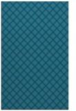 rug #637977 |  blue-green check rug