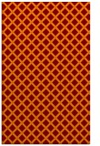 rug #638117 |  red-orange check rug
