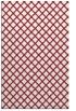 rug #638141 |  pink check rug