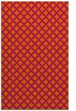 rug #638193    red-orange check rug