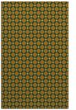rug #638233 |  yellow check rug