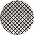 rug #638285 | round white check rug
