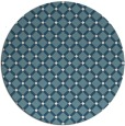 rug #638305 | round blue-green check rug