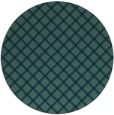 rug #638313 | round blue-green check rug